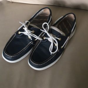 Brand new never worn blue and white Sperrys
